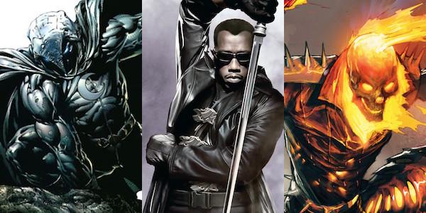 Blade, Ghost Rider e Moon Knight