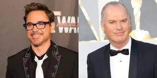 Michael Keaton e Robert Downey Jr.