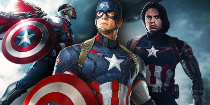 Capitan America, Bucky, Sam, Falcon