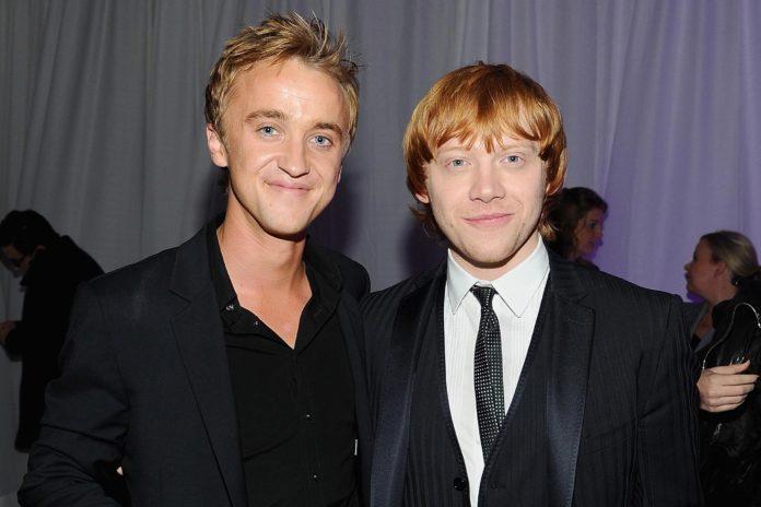 Tom Felton, Rupert Grint, Draco Malfoy, Ron Weasley