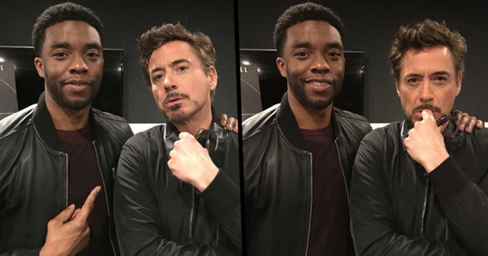 Chadwick Boseman e Robert Downey Jr.
