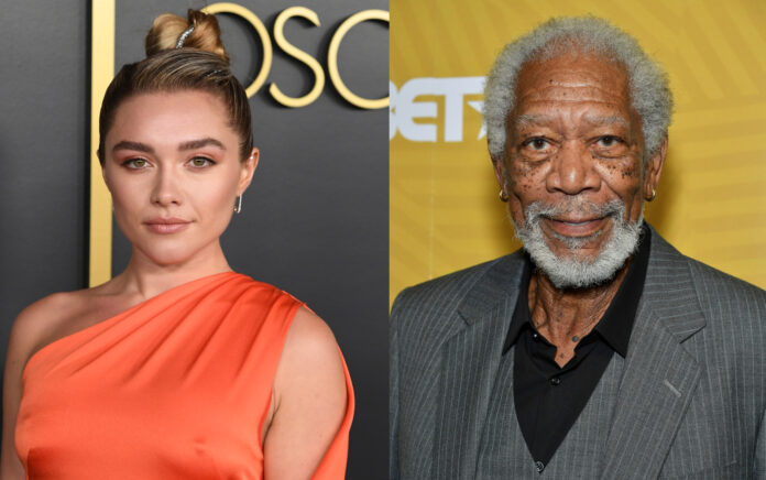 Florence Pugh e Morgan Freeman